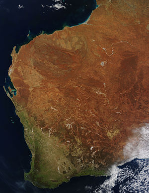 Geography of Western Australia - Western Australia seen from a Satellite