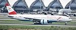 Austrian Airlines B777-2Z9ER (OE-LPA) landing at Suvarnabhumi International Airport.jpg