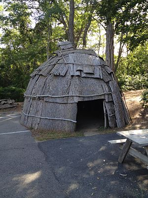 Mashpee, Massachusetts - Avant House of the Wampanoag people of Mashpee, Massachusetts.