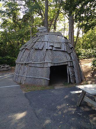 Mashpee, Massachusetts - Avant House of the Wampanoag people of Mashpee, Massachusetts.