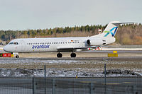 Avanti Air, D-AOLG, Fokker F100 (26009898772).jpg