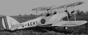 Avro Club Cadet - Avro 638 Club Cadet (G-ACNY), at Heston 1934