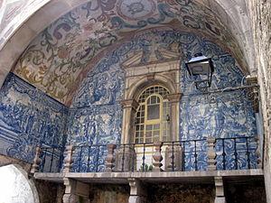 Óbidos, Portugal - Azulejo on Óbidos city gate