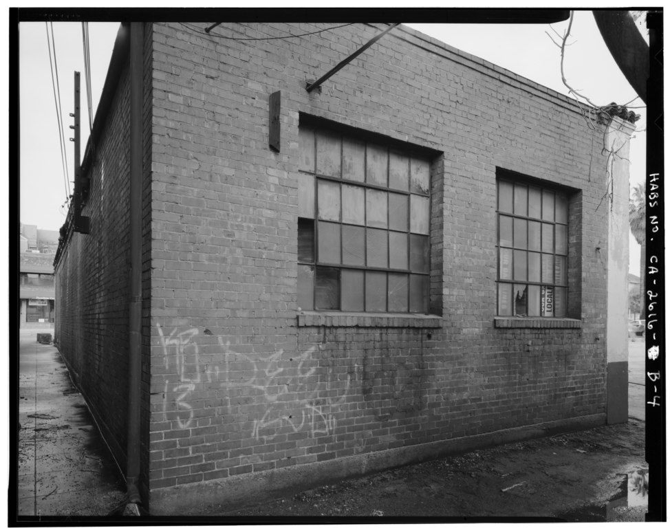 File back and south side view facing northeast c f for 18 8 salon pasadena