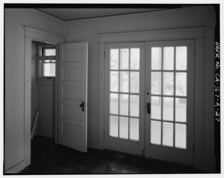 File bedroom 2 interior showing double french doors to for French doors that both open
