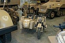 La motocarrozzetta BMW R75 della seconda guerra mondiale.