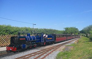 Bure Valley Railway - Image: BVR Class ZB No 6 Blickling Hall Train Arrive Wroxham