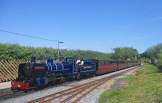 Bure Valley Railway - Image: BVR Class ZB No 6 Blickling Hall Train Arrive Wroxham