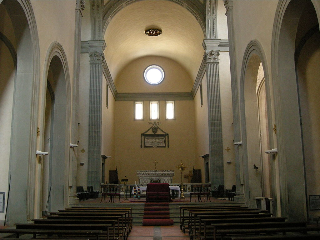BBadia Fiesolana, interiore, San Domenico, Fieole