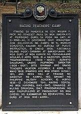 BaguioTeacher'sCamp HistoricalMarker BaguioCity Benguet.jpg