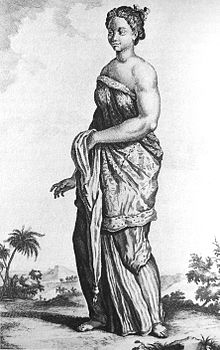 1718 drawing of a female Balinese slave