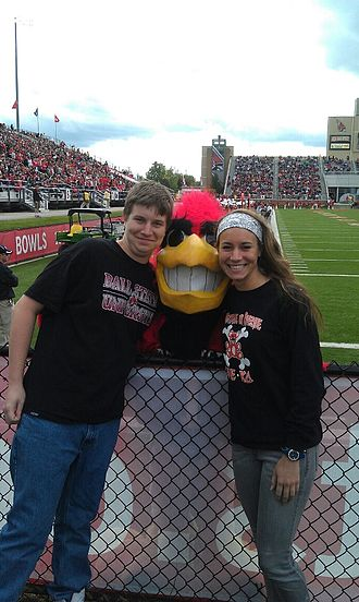 Charlie Cardinal - Charlie at a Ball State Cardinals football game in 2011.