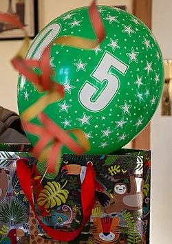 Balloon on a children's birthday party.jpg