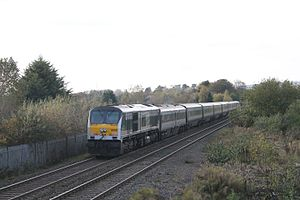IE 201 Class - 208 In the old green Enterprise livery passing through Musgrave. 208 Was the only locomotive in the class to ever carry this livery