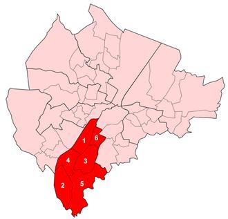 Balmoral (District Electoral Area) - Image: Balmoral Wards