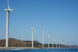Renewable energy in Asia - Bangui Wind Farm in Ilocos Norte, Philippines