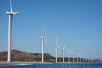 Renewable energy in Asia - Bangui Wind Farm in Ilocos Norte, Philippines