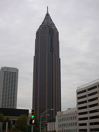 Bank of America Plaza in Atlanta, Georgia is the tallest building in the Southern United States. Bank of America Atlanta 1.jpg