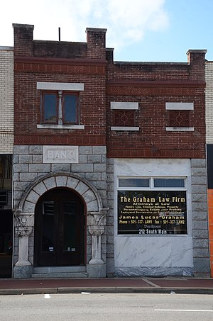 National Register of Historic Places listings in Hot Spring County, Arkansas - Image: Bank of Malvern