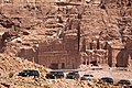 Barack Obama's motorcade departs the ancient city of Petra in Jordan, 2013.jpg