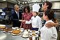 Barack Obama-Susie Morrison-Michelle Obama-Robin Roberts-Cristeta Comerford - White House Thanksgiving 2014.jpg