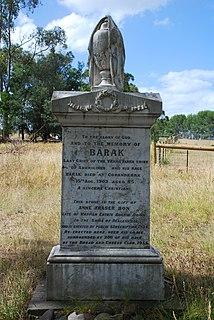 Coranderrk former Aboriginal reserve, now heritage site, in Victoria, Australia