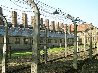 """Polish death camp"" controversy - Auschwitz, Nazi German death camp built in a part of pre-war Poland that was annexed by Nazi Germany."