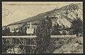 Barbières (Drôme). - Le Pont de l'Usine à Kaolin et Ruines du Château de Pélafol (34317088041).jpg