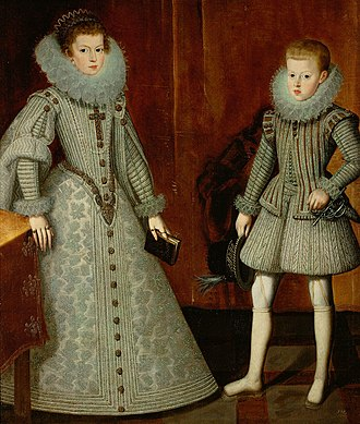 Philip IV of Spain - Philip pictured with his older sister, Anne in 1612 by Bartolomé González y Serrano.