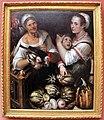 Bartolomeo passerotti, due venditrici di mercato e un ragazzo, con pollame e frutta, 1580 ca.JPG