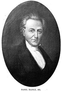 Basil Manly Sr. American minister