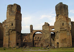 3rd century - The Baths of Caracalla, in 2003