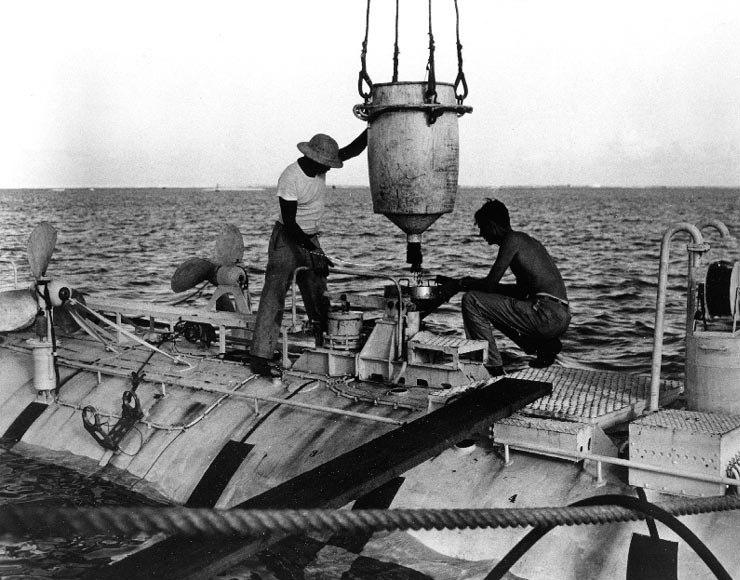 Bathyscaphe Trieste ballast