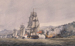 Battle of Valcour Island - Image: Battle Of Valcour Island watercolor