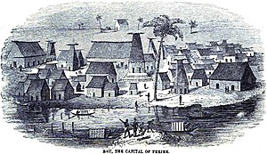 Bau (island) - Image: Bau, the capital of Feejee (November 1848, p.120, V) Copy
