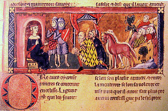 Armenian Kingdom of Cilicia - Baldwin of Boulogne receiving the homage of the Armenians in Edessa.