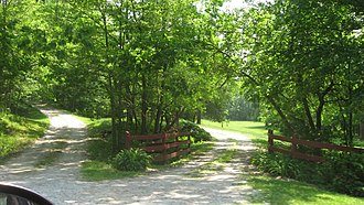 National Register of Historic Places listings in Carroll County, Indiana - Image: Baum Shaeffer Farm driveway