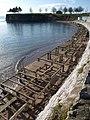 Beach hut bases, Corbyn's Beach - geograph.org.uk - 1722968.jpg