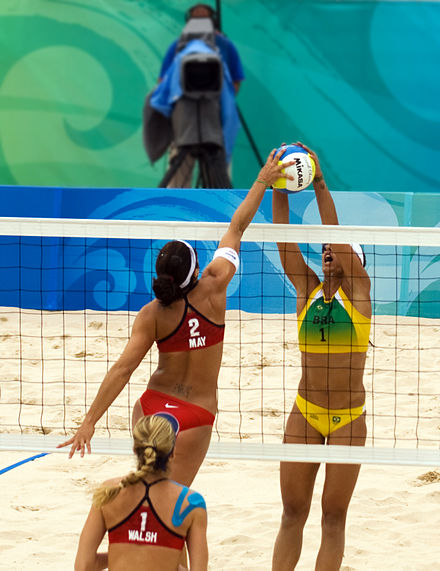USA v. Brazil quarterfinals Beach volley at the Beijing Olympics - USA v. Brazil.jpg