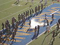 Bears take the field after halftime at 2008 Big Game.JPG