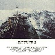 Scala Beaufort, forza 12