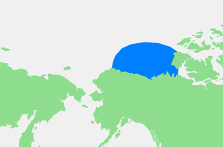 A marginal sea of the Arctic Ocean north of the Northwest Territories, the Yukon, and Alaska