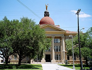 National Register of Historic Places listings in Bee County, Texas - Image: Bee courthouse
