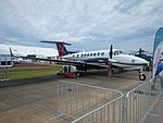 Beechcraft Corp (N871EU) Beechcraft King Air 350i on display at the 2015 Australian International Airshow.jpg