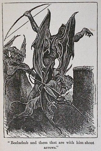 "Beelzebub - ""Beelzebub and them that are with him shoot arrows"" from John Bunyan's The Pilgrim's Progress (1678)"