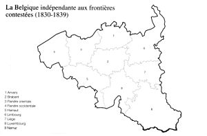 Treaty of London (1839) - Belgian borders claimed before The Treaty of the XXIV articles.