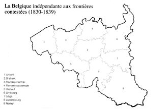 Provinces of Belgium - Belgium at its independence in 1830