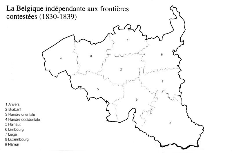 political maps of belgium. Here map of elgium from 1830