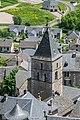 Bell tower of the Saint Sauveur Church in Severac 03.jpg