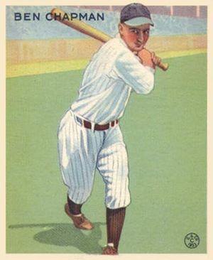 Ben Chapman (baseball) - Image: Ben Chapman Goudeycard